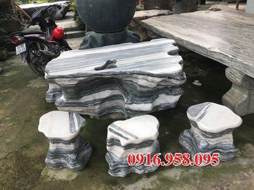 100 Mẫu bộ bàn ghế đá tự nhiên nguyên khối lắp đặt ngoài sân vườn đẹp bán tại quảng bình