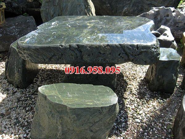 100 Mẫu bộ bàn ghế đá tự nhiên nguyên khối lắp đặt ngoài sân vườn đẹp bán tại quảng ngãi