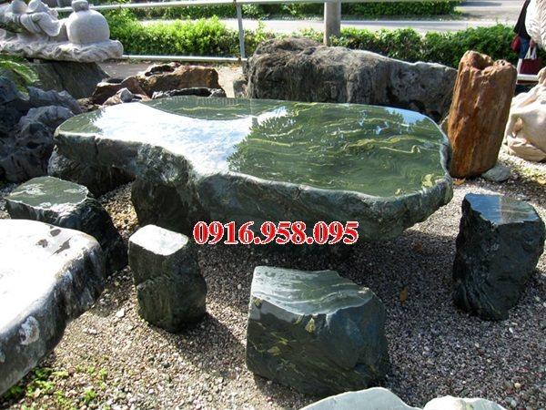 100 Mẫu bộ bàn ghế đá tự nhiên nguyên khối lắp đặt ngoài sân vườn đẹp bán tại quảng trị