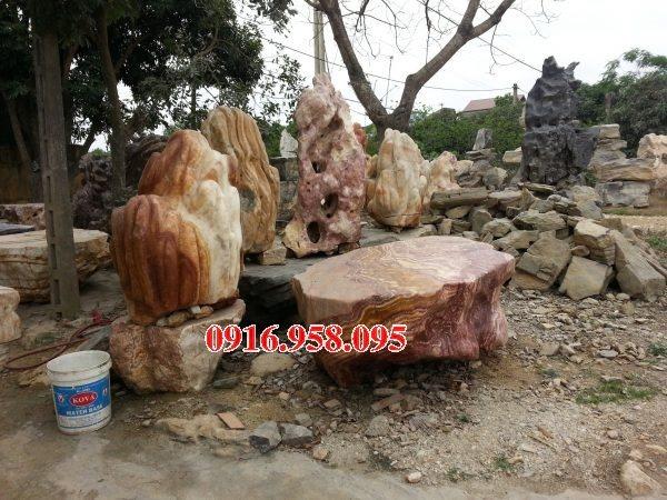 100 Mẫu bộ bàn ghế đá tự nhiên nguyên khối lắp đặt ngoài sân vườn đẹp bán tại sài gòn
