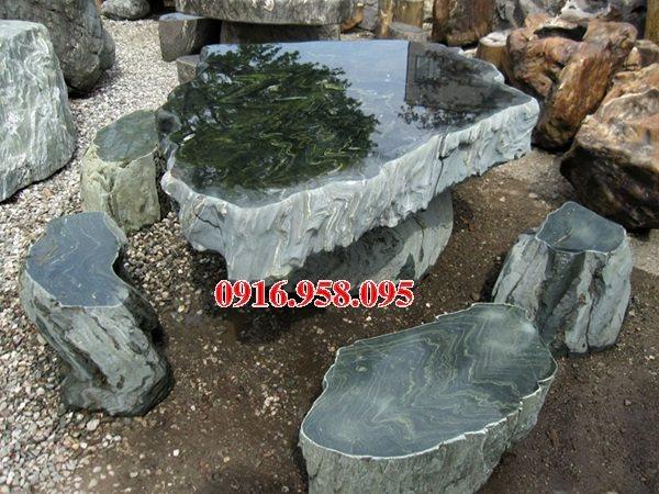 100 Mẫu bộ bàn ghế đá tự nhiên nguyên khối lắp đặt ngoài sân vườn đẹp bán tại tây ninh
