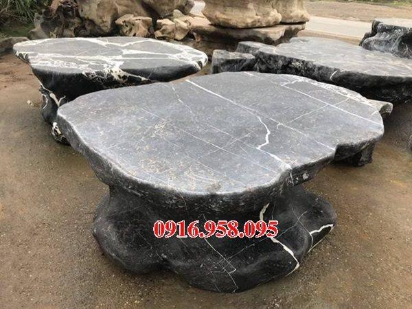 100 Mẫu bộ bàn ghế đá tự nhiên nguyên khối lắp đặt ngoài sân vườn đẹp bán tại thái nguyên