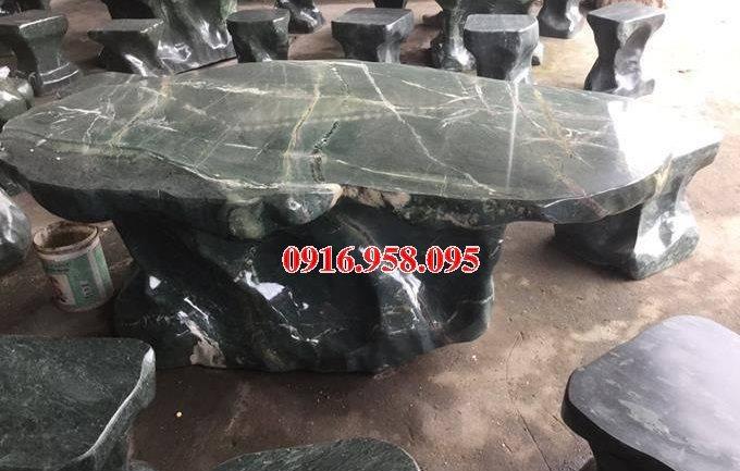 100 Mẫu bộ bàn ghế đá tự nhiên nguyên khối lắp đặt ngoài sân vườn đẹp bán tại thanh hóa