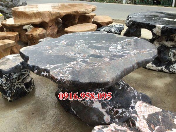 100 Mẫu bộ bàn ghế đá tự nhiên nguyên khối lắp đặt ngoài sân vườn đẹp bán tại tiền giang