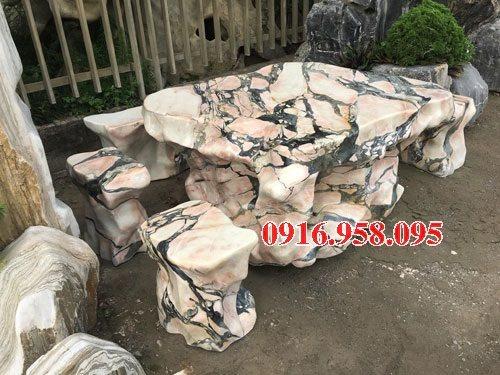 100 Mẫu bộ bàn ghế đá tự nhiên nguyên khối lắp đặt ngoài sân vườn đẹp bán tại tp hồ chí minh