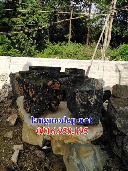 100 Mẫu bộ bàn ghế đá tự nhiên nguyên khối lắp đặt ngoài sân vườn đẹp bán tại vĩnh long