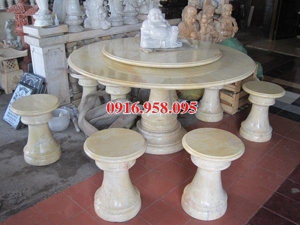 100 Mẫu bộ bàn ghế đá tự nhiên nguyên khối lắp đặt ngoài sân vườn đẹp bán tại yên bái