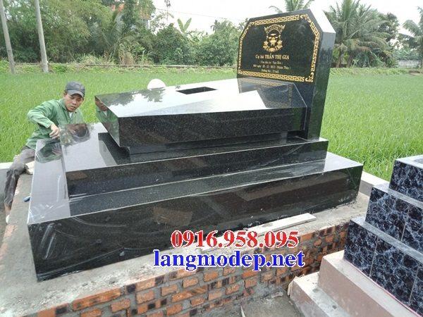 Bán sẵn mộ đá hoa cương granite kim sa tự nhiên nguyên khối đẹp
