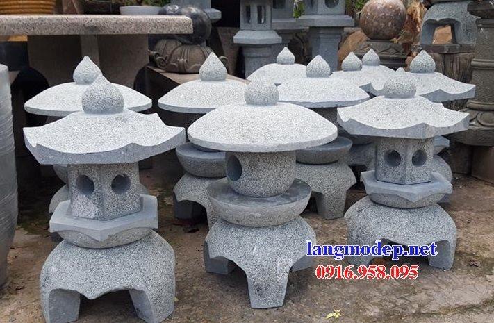 Các mẫu đèn đá tự nhiên nguyên khối trang trí sân vườn đẹp