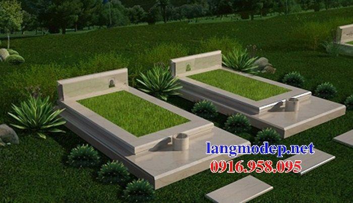 Mẫu mộ đá granite nguyên khối tam cấp thiết kế hiện đại đẹp