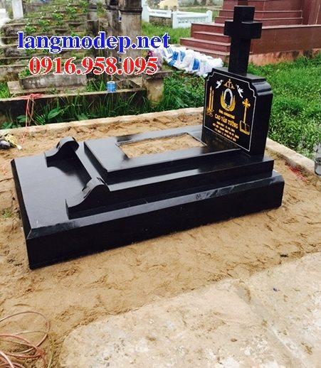 Xây bán sẵn mộ đạo thiên chúa công giáo bằng đá hoa cương granite kim sa tự nhiên nguyên khối đẹp toàn quốc