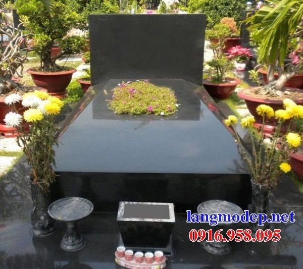 Xây bán sẵn mộ bằng đá hoa cương granite kim sa tự nhiên nguyên khối đẹp toàn quốc
