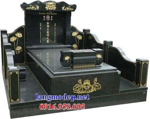 Xây mộ bằng đá hoa cương granite kim sa nguyên khối đẹp