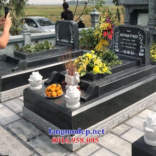 Xây mộ bằng đá hoa cương nguyên khối đẹp