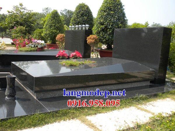 Xây thiết kế mộ bằng đá hoa cương granite kim sa tự nhiên nguyên khối đẹp