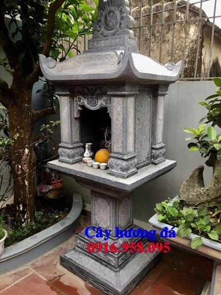 Kích thước miếu cây hương thờ thần linh thổ địa sơn thần bằng đá ninh bình đẹp