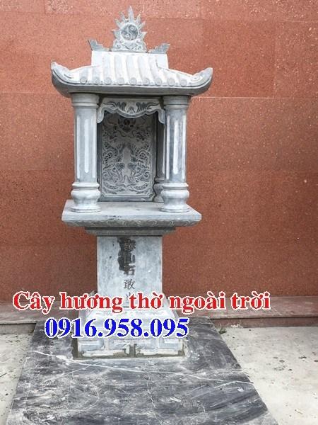 Kích thước miếu cây hương thờ thần linh thổ địa sơn thần bằng đá thanh hóa đẹp