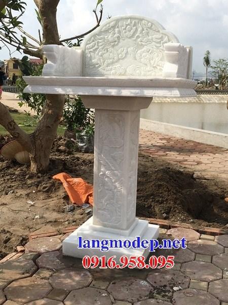 Kích thước miếu cây hương thờ thần linh thổ địa sơn thần bằng đá trắng đẹp