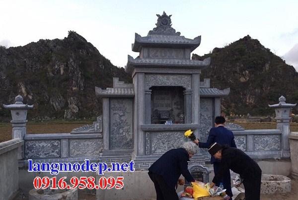 61 Mẫu cây hương thờ chung khu lăng mộ gia đình dòng họ bằng đá đẹp tại Tiền Giang