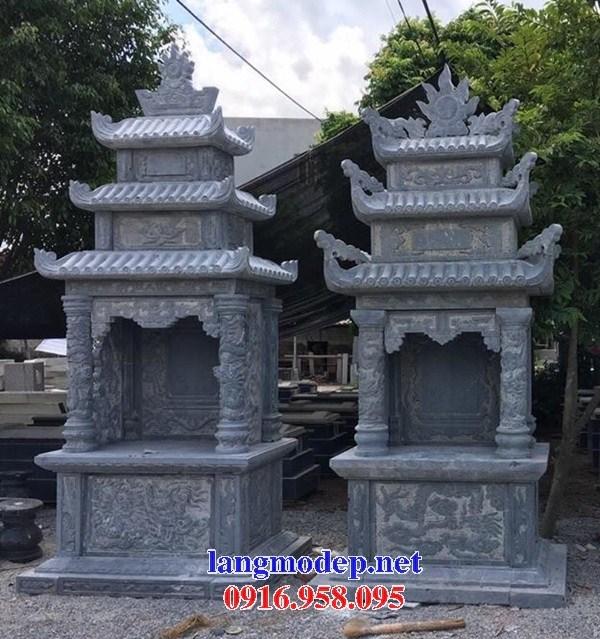 61 Mẫu cây hương thờ chung khu lăng mộ gia đình dòng họ bằng đá tự nhiên nguyên khối đẹp tại Tiền Giang