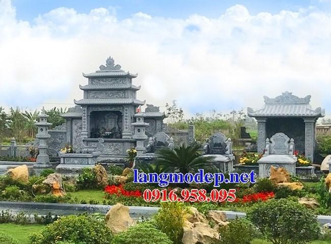 61 Mẫu cây hương thờ chung khu lăng mộ gia đình dòng họ bằng đá thiết kế hiện đại đẹp tại Tiền Giang