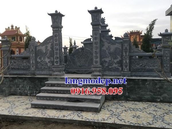 61 Mẫu cuốn thư bức bình phong khu lăng mộ nghĩa trang gia đình dòng họ bằng đá thiết kế hiện đại đẹp tại Tiền Giang