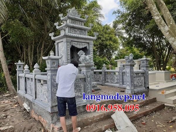 61 Mẫu khu lăng mộ nghĩa trang gia đình dòng họ bằng đá đẹp tại Tiền Giang