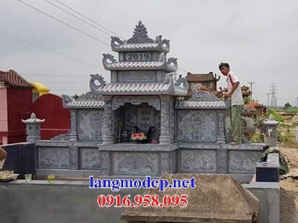 61 Mẫu khu lăng mộ nghĩa trang gia đình dòng họ bằng đá điêu khắc tinh xảo đẹp tại Tiền Giang