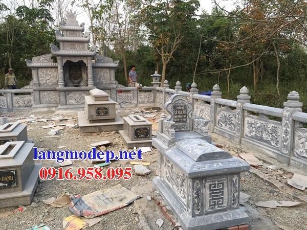 61 Mẫu khu lăng mộ nghĩa trang gia đình dòng họ bằng đá tự nhiên nguyên khối đẹp tại Tiền Giang