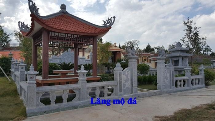 61 Mẫu khu lăng mộ nghĩa trang gia đình dòng họ bằng đá thiết kế đẹp tại Tiền Giang