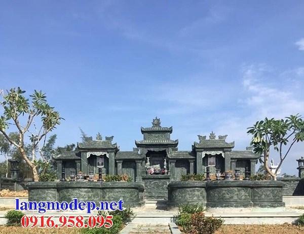 61 Mẫu khu lăng mộ nghĩa trang gia đình dòng họ bằng đá xanh rêu đẹp tại Tiền Giang