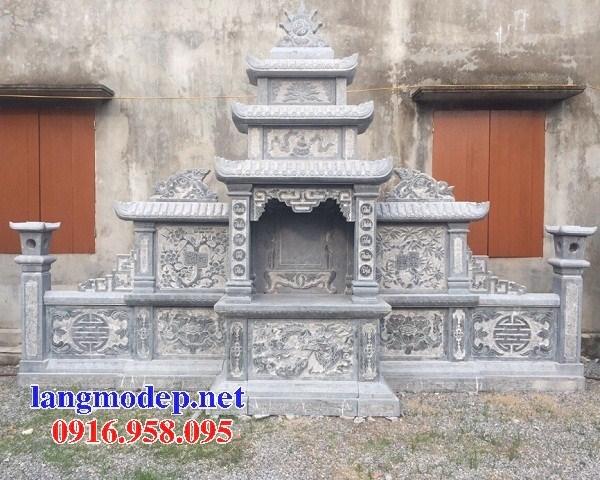 61 Mẫu lăng thờ chung khu lăng mộ gia đình dòng họ bằng đá chạm khắc hoa văn đẹp tại Tiền Giang