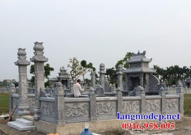 61 Mẫu lan can tường rào khu lăng mộ nghĩa trang gia đình dòng họ bằng đá chạm khắc hoa văn đẹp tại Tiền Giang