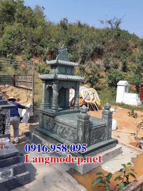 61 Mẫu mộ đá xanh rêu chạm khắc hoa văn đẹp tại Tiền Giang