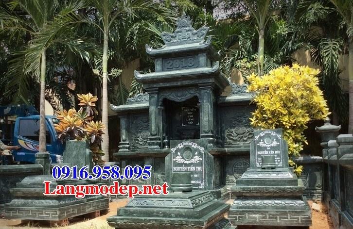 61 Mẫu mộ đá xanh rêu thiết kế đẹp tại Tiền Giang