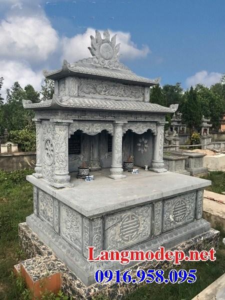 61 Mẫu mộ đôi gia đình bằng đá tự nhiên nguyên khối đẹp tại Tiền Giang