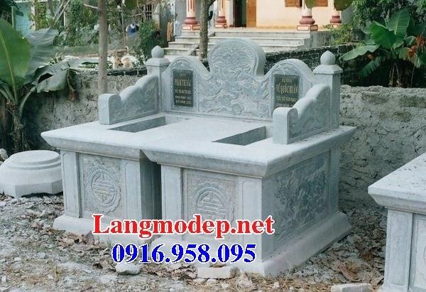 61 Mẫu mộ đôi gia đình cất để tro cốt hỏa táng bằng đá đẹp tại Tiền Giang