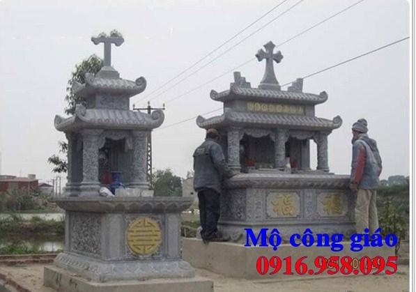 61 Mẫu mộ đạo thiên chúa công giáo bằng đá đẹp tại Tiền Giang