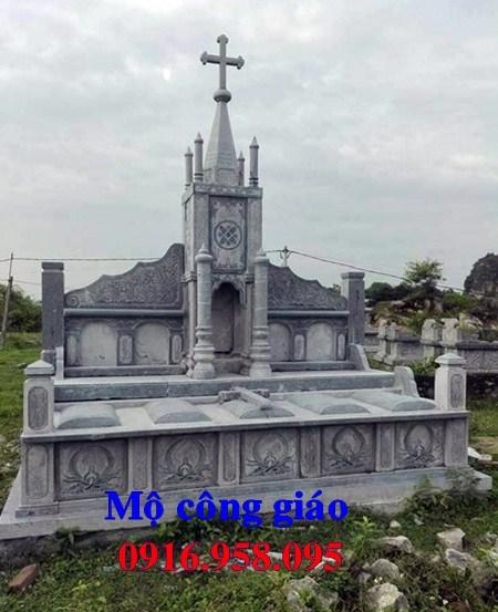 61 Mẫu mộ đạo thiên chúa công giáo bằng đá thiết kế hiện đại đẹp tại Tiền Giang