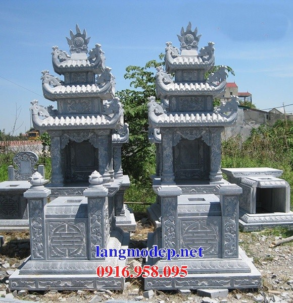 61 Mẫu mộ ba mái cất để tro cốt hỏa táng bằng đá đẹp tại Tiền Giang