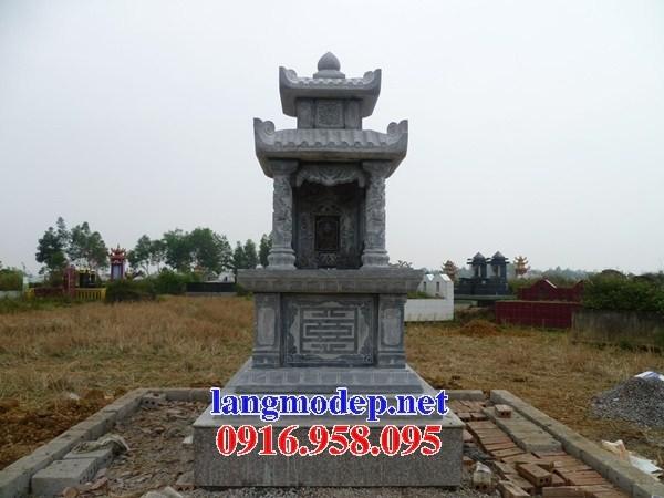 61 Mẫu mộ hai mái bằng đá tự nhiên nguyên khối đẹp tại Tiền Giang