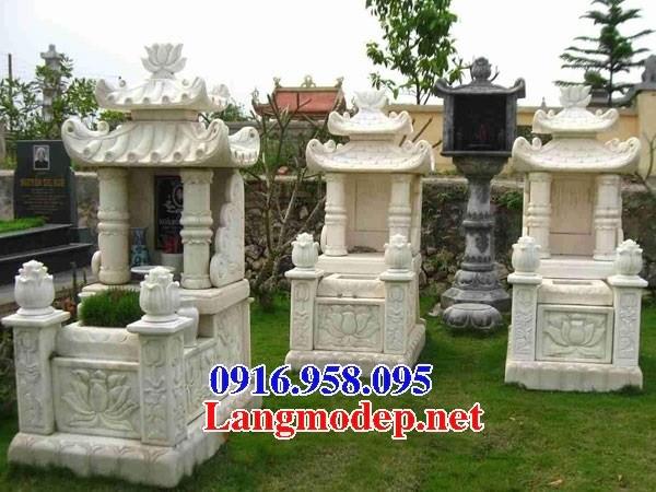 61 Mẫu mộ hai mái bằng đá trắng tự nhiên đẹp tại Tiền Giang