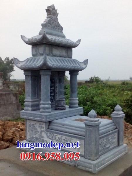 61 Mẫu mộ hai mái bằng đá xanh Thanh Hóa đẹp tại Tiền Giang