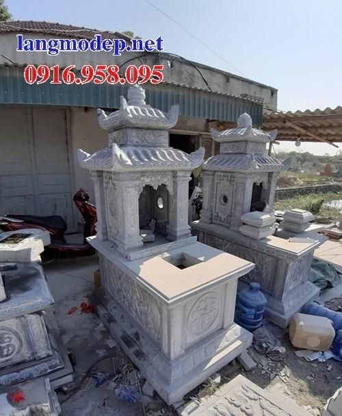 61 Mẫu mộ hai mái cất để tro cốt hỏa táng bằng đá đẹp tại Tiền Giang