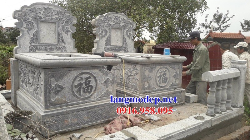 61 Mẫu mộ không mái bằng đá xanh Thanh Hóa đẹp tại Tiền Giang