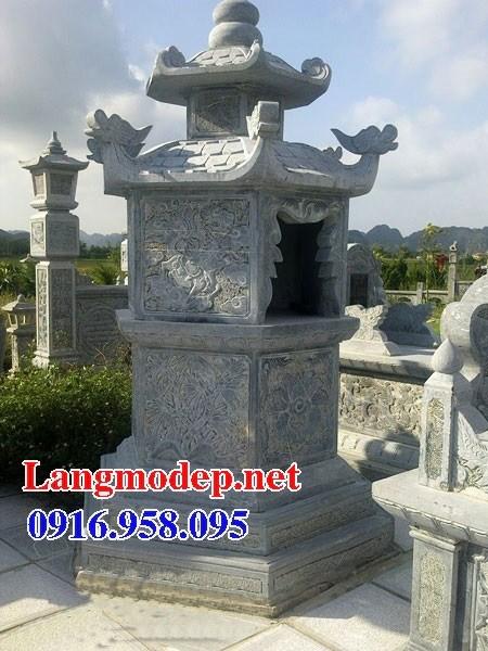 61 Mẫu mộ lục lăng bát giác bằng đá chạm khắc hoa văn đẹp tại Tiền Giang