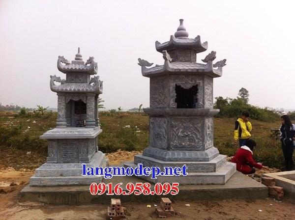 61 Mẫu mộ lục lăng bát giác bằng đá xanh Thanh Hóa đẹp tại Tiền Giang