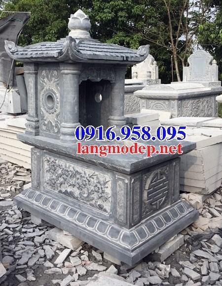 61 Mẫu mộ một mái bằng đá chạm khắc hoa văn đẹp tại Tiền Giang