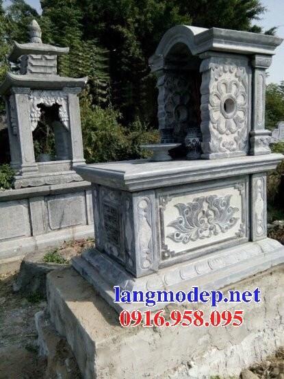 61 Mẫu mộ một mái bằng đá mỹ nghệ Ninh Bình đẹp tại Tiền Giang