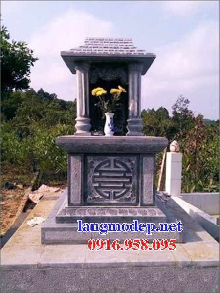 61 Mẫu mộ một mái bằng đá tự nhiên nguyên khối đẹp tại Tiền Giang